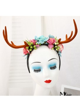 Exquisite Antler Handmade Hair Band Antlers Length 7CM Total Length 24CM