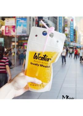 100PCS Beverage Bag Plastic Liquid Packaging Bag 23*13CM
