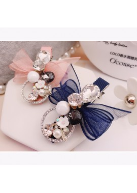 Bow Hair Accessory Headdress 6CM Long 3CM At The Widest Point