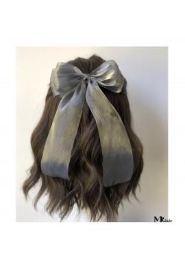 Snow Yarn Ribbon Bow Hairpin Ribbon 14CM Streamer 20CM