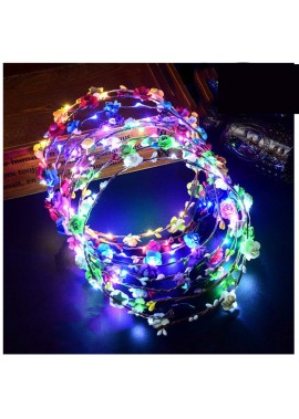 5PCS Ten Lights Luminous Garland Headband 7.4inch