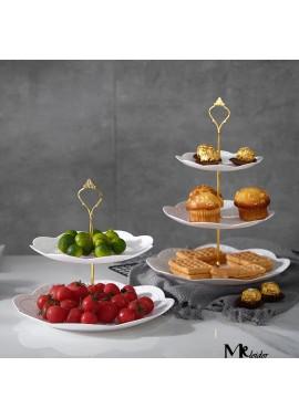 European Three-Layer Dessert tray Dessert Table 24*37CM