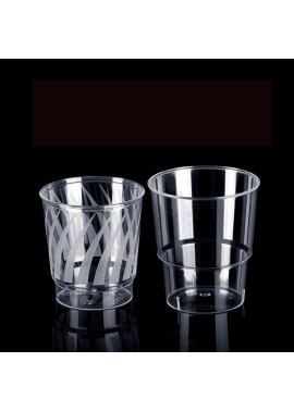100 Transparent Thickened Disposable Cups