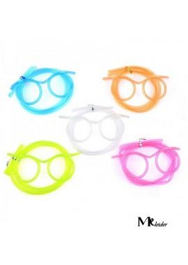10PCS Creative Funny Children's Eye Art Straw Hose Length 63 CM And 35.5 CM Eye Frame 12 CM