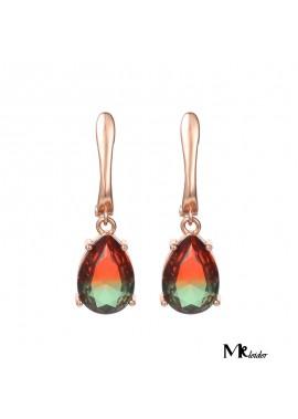 Classic Drop Pear-Shaped Tourmaline Earrings 1.3*0.9CM