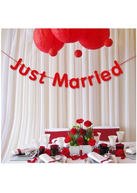 Wedding Letter Pull Flower Decoration Banner Total Length 3 Meters