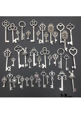 2PCS Packs Of Retro Key Pendant DIY Jewelry