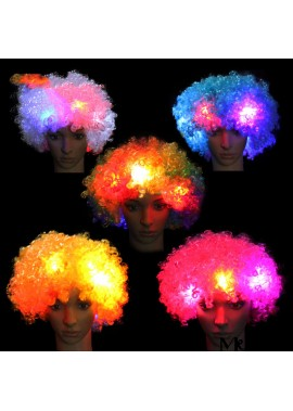 Glowing Hood Hat Exploding Head Wig Intranet About 58CM