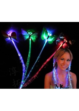 12PCS Colorful Butterfly Glow Braids Length 30CM
