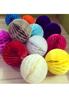 10PCS Color Honeycomb Ball Paper Lantern 8 Inchs