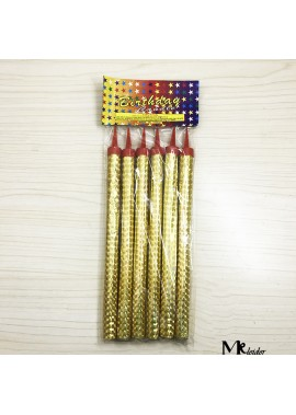12pcs Straight Candle 20cm With Candle Light