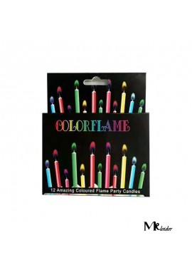 Colorful Flame Birthday Candle Festive Supplies Color Candles(5, Medium)