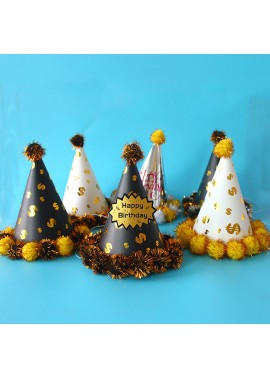 10PCS Party Peaked Hats And Crown Hats 16*19CM