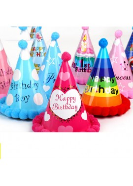 5PCS Dots Birthday Pointed Hat Party Hat 12*18CM