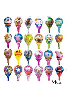 50PCS Holding an inflatable balloon, Multi-Color Balloons