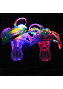 20PCS Led Pacifier Whistle 3 Lights The Longest Place Is 8CM * The Widest Place Is 5CM