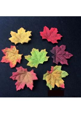 500pcs Stacked Wedding Scene Layout Color Simulation Maple Leaves