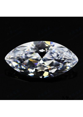 1000pcs Diamond Leaf Shaped Sharp Endstone