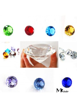 500pcs 25MM Crystal Diamond Artificial Transparent Glass Diamond