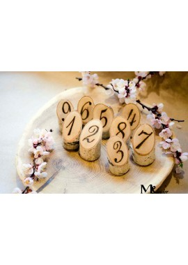 3*6CM Digital Number Card Creative Personality Table Card Wedding Table Number Card Numbers 1-10
