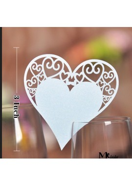 50PCS 3Inchs Creative Hollow Wedding Table Card