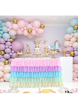 Party Decoration Wedding 5-layer Table Skirt