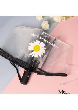 Daisy Transparent Umbrella Folding Wedding Umbrella Length 59CM Open Diameter 97CM