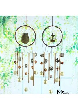 Metal Tube Bell Wind Chime Ornament Door Decoration Total Length 60CM