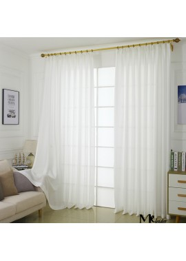 Curtain Yarn Floor Solid Color Simple Yarn Curtain Length1M