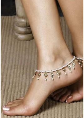Perlen Kristall Fußkettchen T901556413866