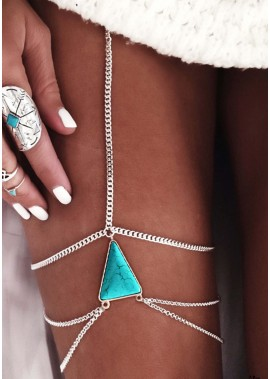 Turquoise Multilayer Leg Chains T901556514100