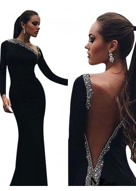 MKleider Black Mermaid Long Evening Dress T801524703948