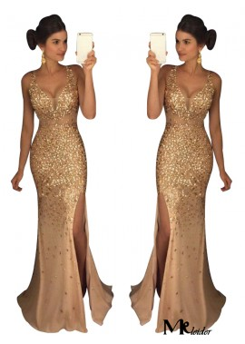 MKleider The Gold Long Prom Evening Dress T801524640105