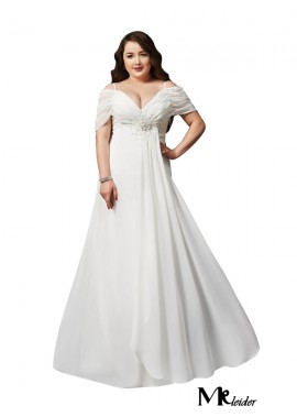 MKleider White Long Plus Size Prom Evening Dress T801524704103