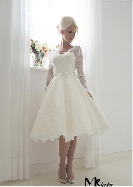 MKleider Short Lace Wedding Dress T801525383602