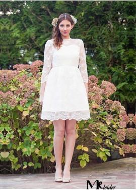 MKleider Short Lace Wedding Dress T801525337944