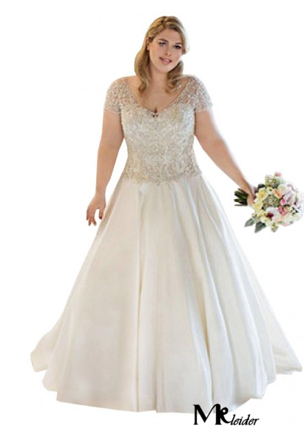 MKleider Plus Size Wedding Dress T801525319044