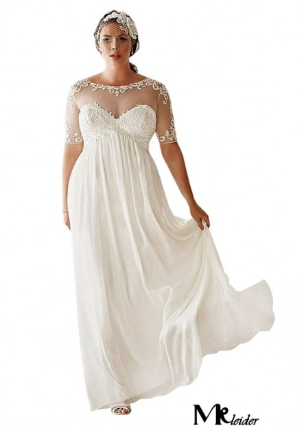 MKleider Simple Plus Size Wedding Dress T801525317649